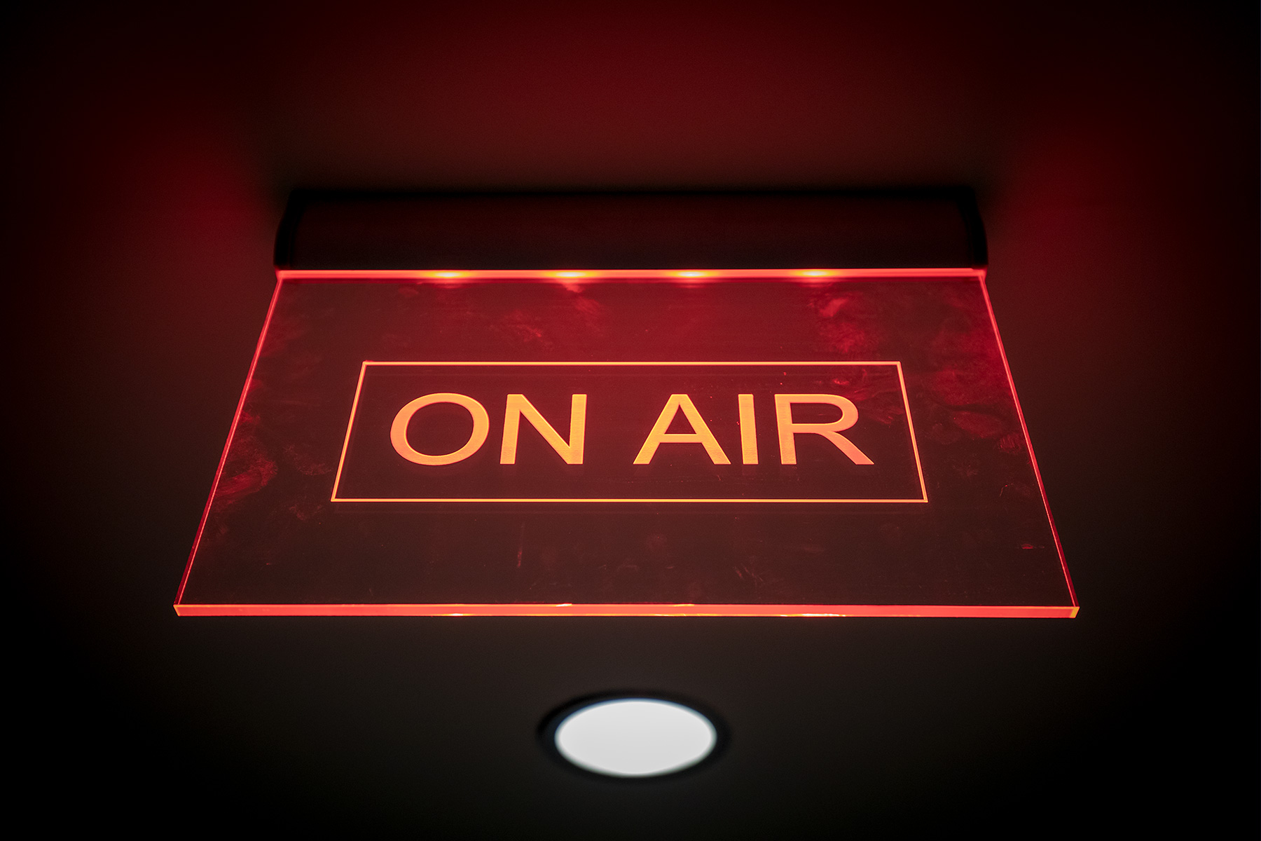 A sign reading 'ON AIR'
