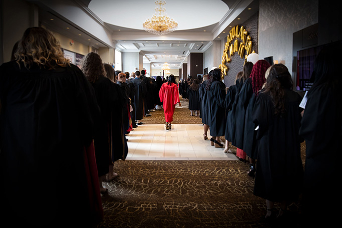 Convocation 2018 - Students entering the hall for Convocation