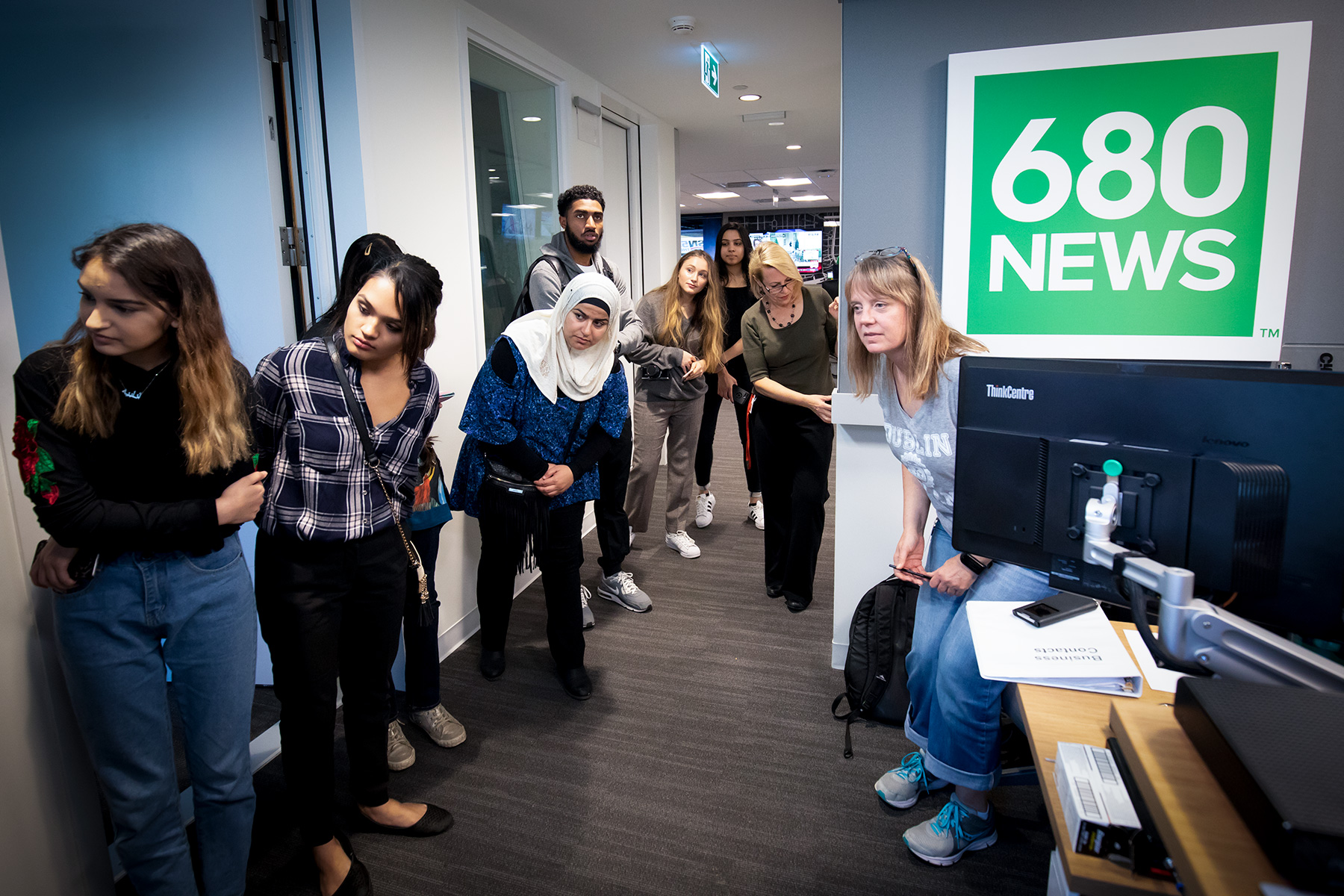 Students touring Rogers/680 News