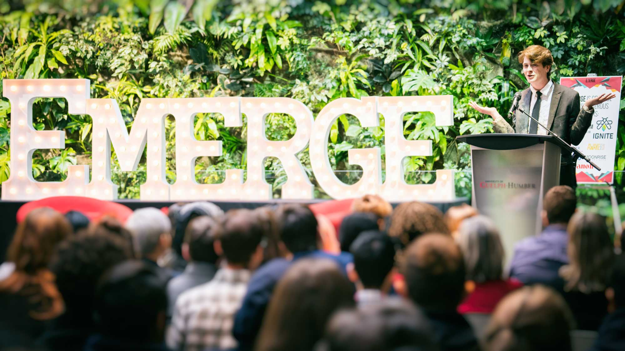 The Emerge Conference host addresses attendees
