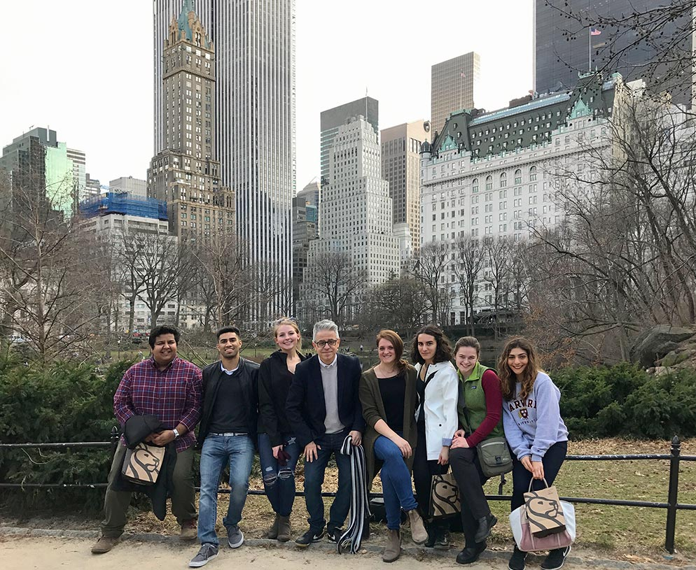 The Agora Fellows pose in Central Park.