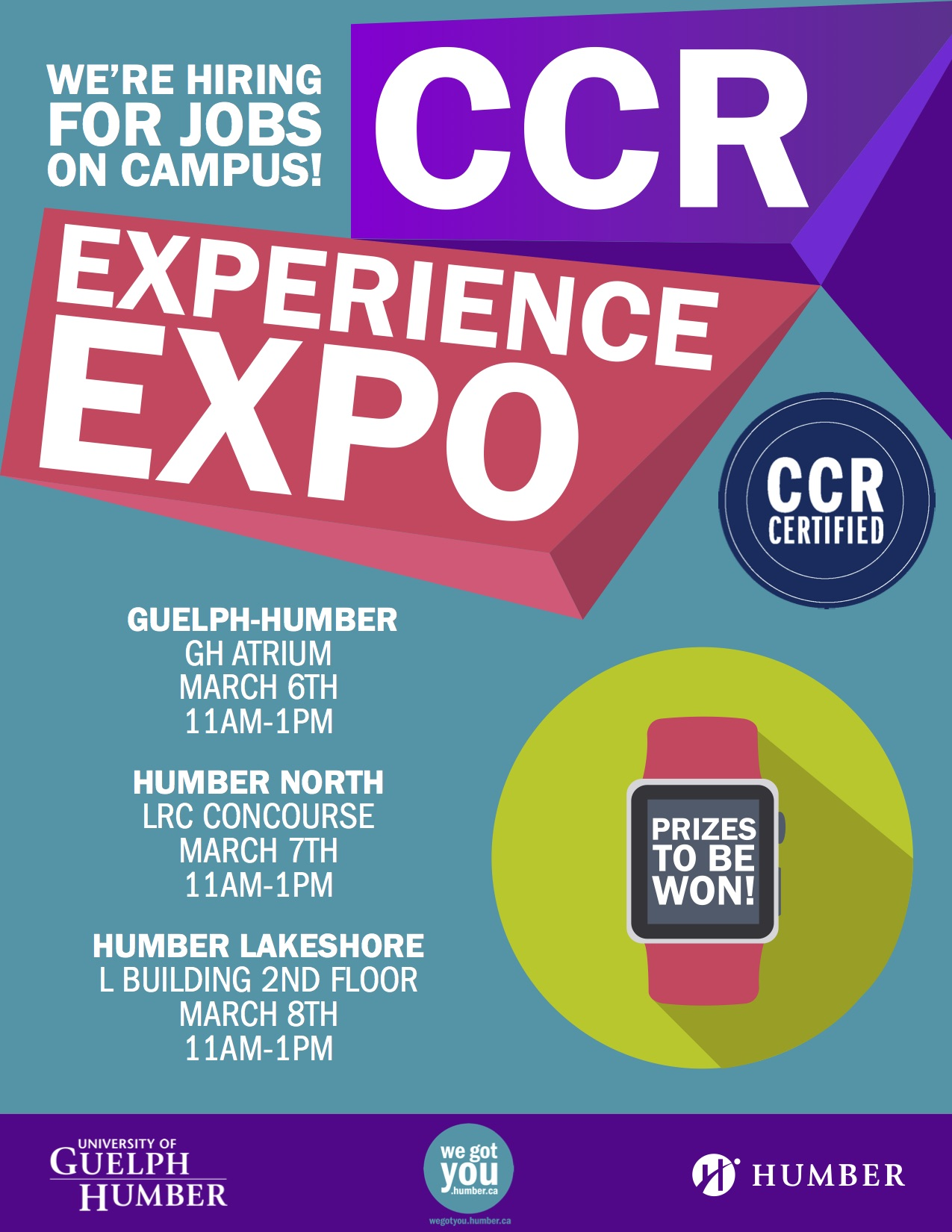 Text that reads: CCR Experience Expo