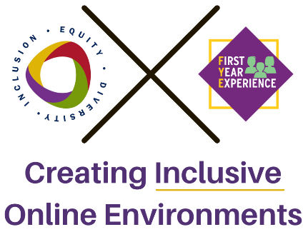 Text that reads: Creating Inclusive Online Environments