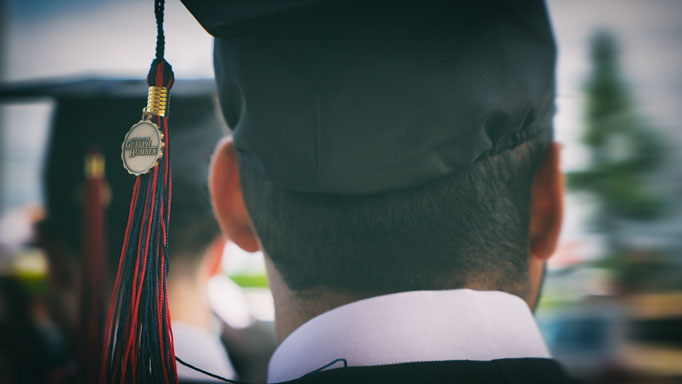 A close look at one student's cap