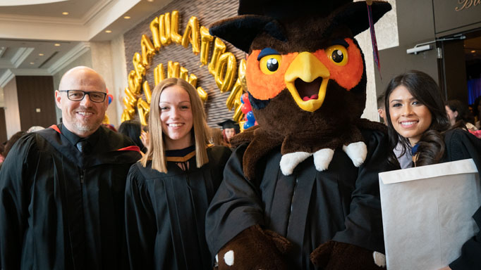 Swoop poses with Dr. Dave Kidd