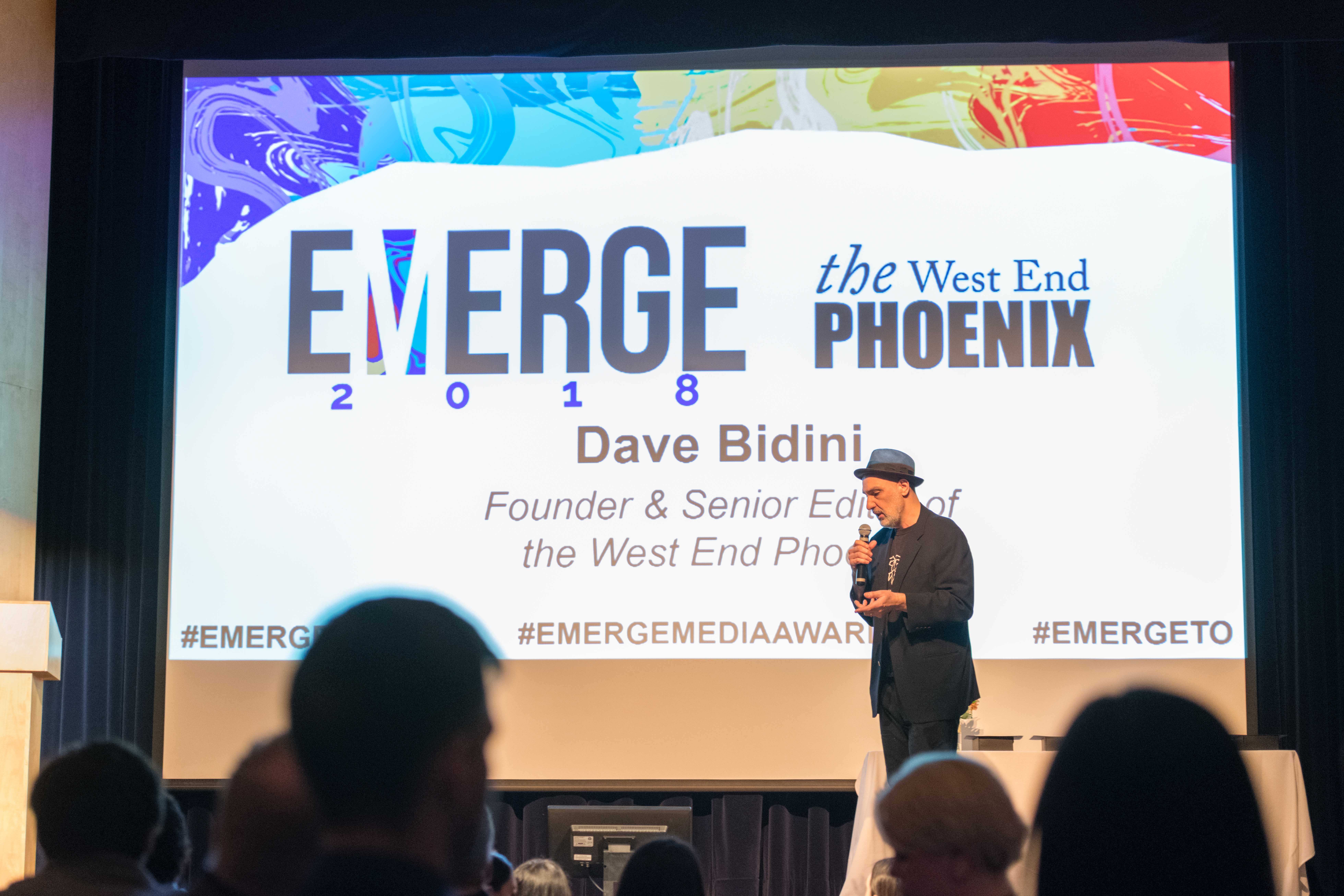 Dave Bidini addresses the crowd