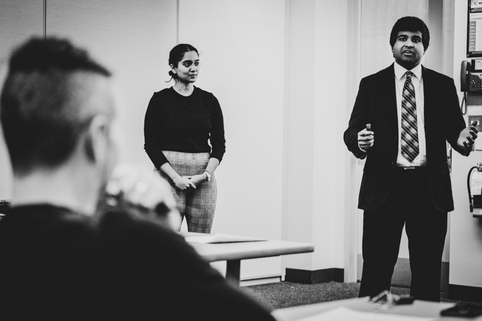 Dilshan Jaysinghe presenting