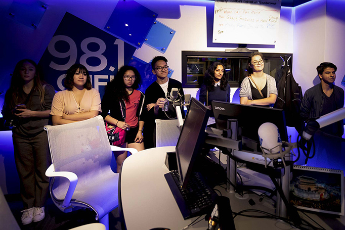 Students witness recording at CHFI