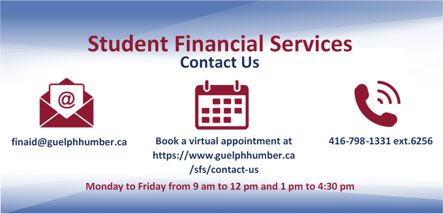 Text that reads: Student Financial Services