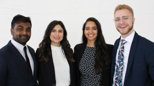 UofGH's team of four case competitors
