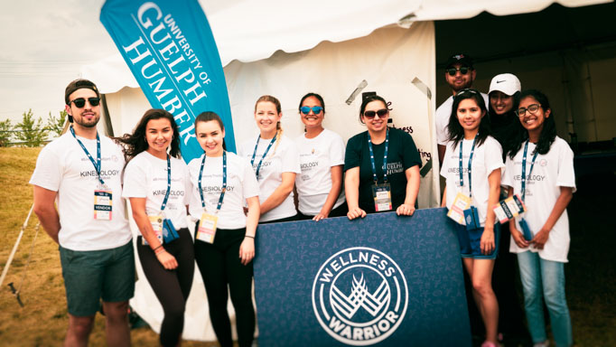 UofGH student volunteers at the Masters Indigenous Games