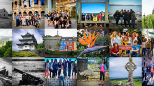 Mosaic of Study Abroad photos