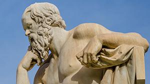 A Greek statue