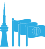 CN Tower with flags icon