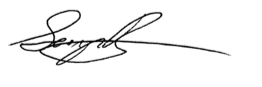 Dr. George Bragues signature