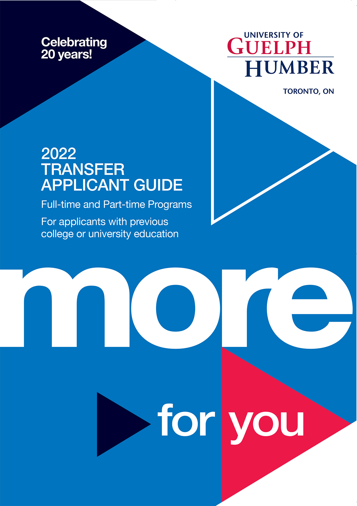 Cover image of Transfer Applicant Guide 2022.