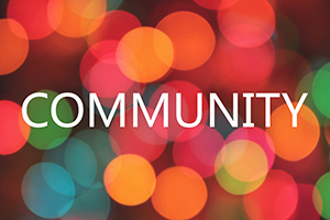 Text that reads: Community