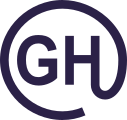 GH surrounded by circle