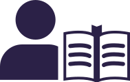 Icon: Person with open book